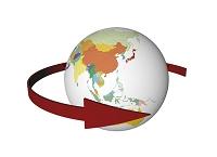 矢印と地球