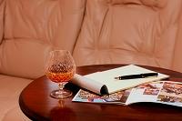 万年筆と便箋 本と酒
