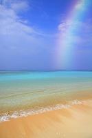 沖縄県 コバルトブルーの海と砂浜