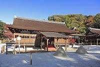 京都府 上賀茂神社の細殿と立砂