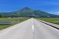 福島県 道と磐梯山