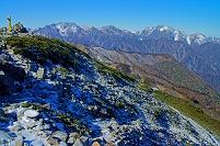 長野県 爺ケ岳より立山と剣岳