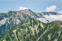 五竜岳山頂から見る唐松岳と白馬三山