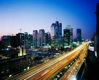 北京 街並みの夜景