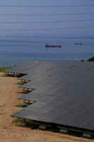 兵庫県 高台にある太陽光発電施設