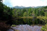 長野県 乗鞍高原 牛留池と乗鞍岳