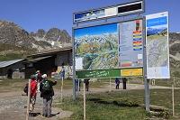 ピッツ・ネイル展望台 案内板 サンモリッツ スイス ヨーロッパ