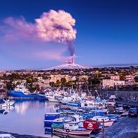 イタリア エトナ火山の噴火