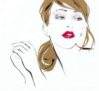 ファッショナブルな女性イラスト