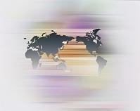世界地図 光の流れ CG