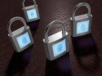 指紋認証方式の錠前