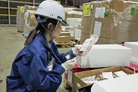 成田空港検疫所 輸入食品のサンプリング検査の様子