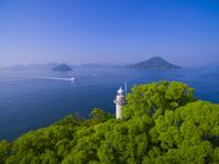 広島県 宇品灯台と瀬戸内海