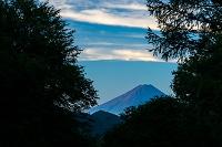山梨県 富士見平小屋から見る朝焼けの富士山