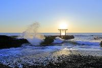 茨城県 大洗海岸の朝日