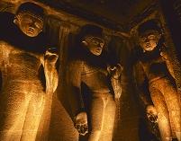 インド アジャンタ石窟群 第4窟 浮彫
