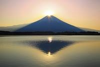 静岡県 田貫湖 朝のダブルダイアモンド富士