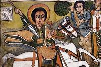 16世紀に描かれた聖ギオルギス/聖ゴルゴダ・ミカエル教会