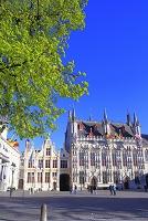 ベルギー ブルグ広場と市庁舎