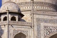 インド アーグラ タージ・マハル 象嵌細工の装飾
