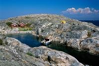 スウェーデン 入り江のボート