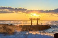 日本 茨城県 大洗海岸 神磯の鳥居