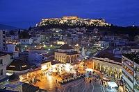 ギリシャ アテネ モナスチラキから望むアクロポリス 世界文化...