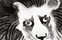 墨絵 ライオン