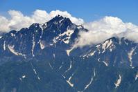 北アルプス・唐松岳頂上山荘前から望む劔岳