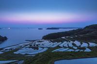 土谷棚田と夕日