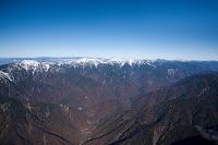 赤石山脈(南アルプス)の山並み(鳥森山周辺より大沢岳、赤石岳、...