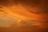 山梨県 富士山八合目での夕焼け雲
