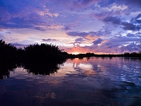 マレーシア コタキナバル 夕方の美しい空と川
