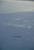 洋上のJAL機