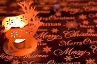 トナカイのキャンドルのクリスマスデコレーション
