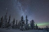 フィンランド 天の川と満天の星空