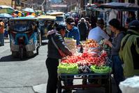 ペルー ワラス 野菜売り