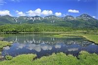 北海道 湖畔展望台から知床連峰と知床五湖