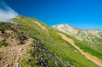 五竜山荘から見る五竜岳