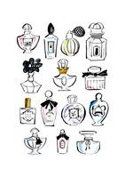 化粧品のボトル イラスト