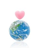 地球とハート