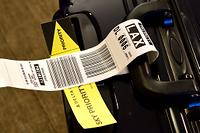 アメリカ 航空受託手荷物タグ