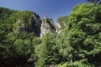 北海道 双瀑台より望む銀河流星の滝