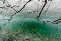 クロアチア プリトヴィツェの雪景色