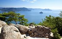 広島県 宮島 獅子岩展望台から瀬戸内海を望む