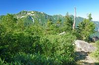富山県 剣岳早月尾根から奥大日岳(左)