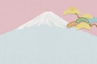 富士山と松 イラスト