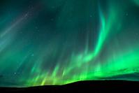 アイスランド ヴァトナヨークトル国立公園 オーロラ