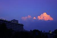 京都府 茜色の入道雲