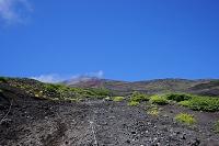 静岡県 富士山六合目からの富士山頂と砂走り